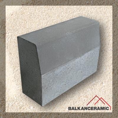 Бордюр пътен Mагистрален  50/18/35 см. - сив (Balkanceramic)