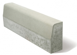 Бордюр пътен Mагистрален   50/15/25 см. - сив с регула 10 (Semmelrock)
